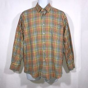 Alan Flusser Colorful Check Casual Shirt Med 15.5